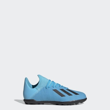 Children Football Turquoise X 19.3 Turf Boots