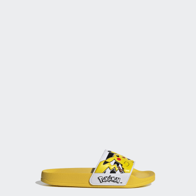 Kids Swimming Yellow Adilette Shower Slides