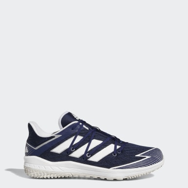 Men's Baseball Blue Adizero Afterburner Turf Shoes