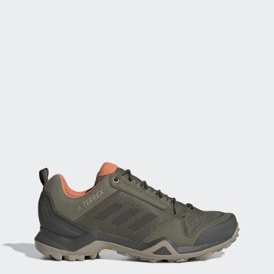 Sapatos de Caminhada AX3 GORE-TEX TERREX Verde Mulher Montanhismo