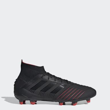 Football Black Predator 19.1 Firm Ground Boots