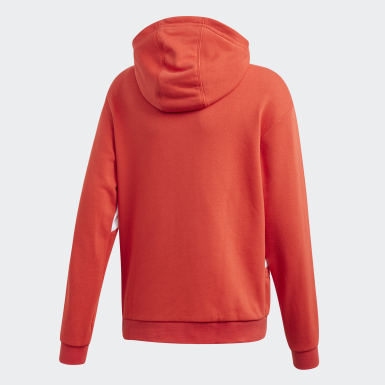 Kids Originals Red Big Trefoil Hoodie