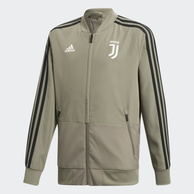 Kids Football Brown Juventus Presentation Track Top
