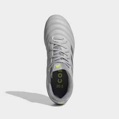 Zapatos de Fútbol Copa 20.3 Terreno Firme Gris Niño Fútbol
