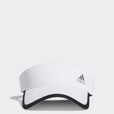 Women Golf White Silver Logo Visor