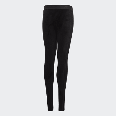 Youth Training Black ID Winter Tights