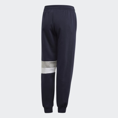 Boys Athletics Blue Linear Colorblock Joggers