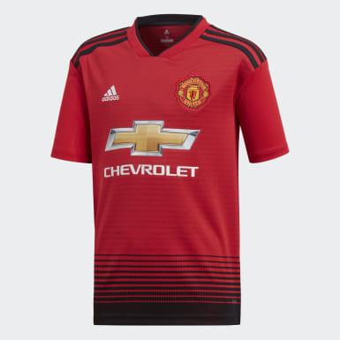 Barn Fotboll Röd Manchester United Hemmatröja