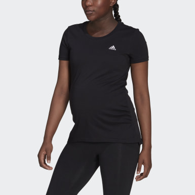 Women Athletics Black Essentials Cotton T-Shirt (Maternity)