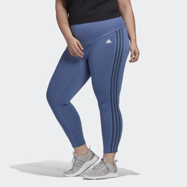 Women's Training Designed 2 Move High-Rise 3-Stripes 7/8 Sport Tights (Plus Size)
