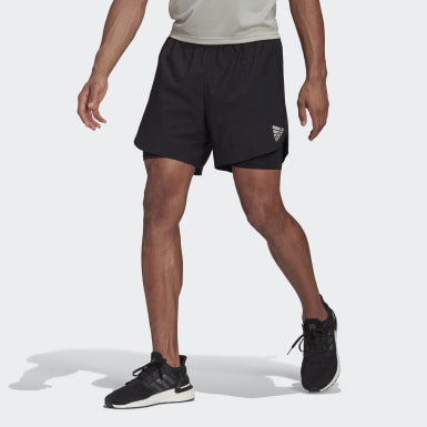 Men Running Black adidas Fast 2-in-1 Primeblue Shorts