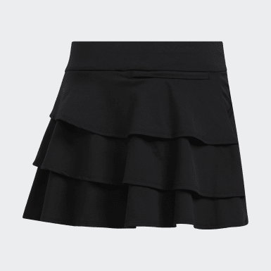Youth Golf Black Ruffled Skort