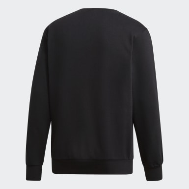 Felpa Essentials 3-Stripes Nero Uomo Training