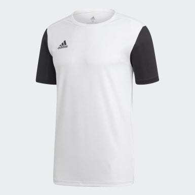 ผู้ชาย ฟุตบอล สีขาว เสื้อฟุตบอล Estro 19