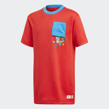 Kinderen Training rood adidas x Classic LEGO® Bricks Loose Fit T-shirt
