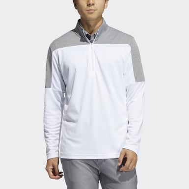 Men's Golf White Lightweight UV Quarter-Zip Sweatshirt