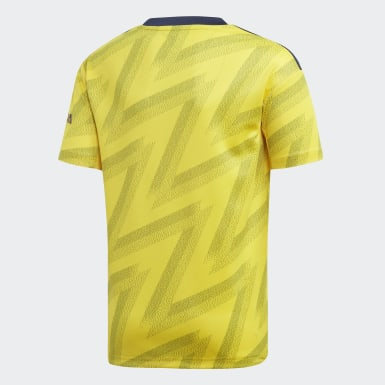Youth 8-16 Years Football Yellow Arsenal Away Jersey