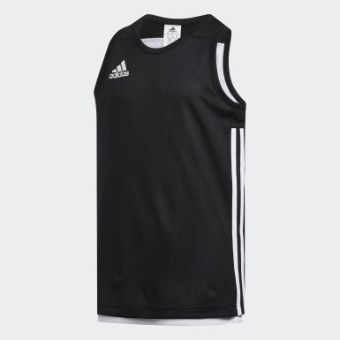 Kids Basketball Black 3G Speed Reversible Jersey