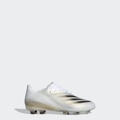 Kids Football White X Ghosted.1 Firm Ground Boots