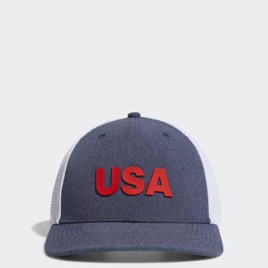 Men's Golf Blue USA TRUCKER