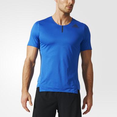 Playera adizero Azul Hombre Running