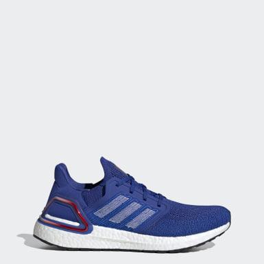 Sapatos Ultraboost 20 Azul Homem Running