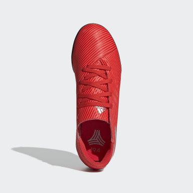 Calzado de Fútbol Nemeziz 19.4 Césped Artificial Rojo Niño Fútbol