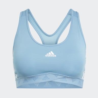 Women Running Blue Mesh Bra