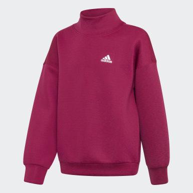 Dievčatá Tréning fialová Tepláková bunda Warm AEROREADY Warming