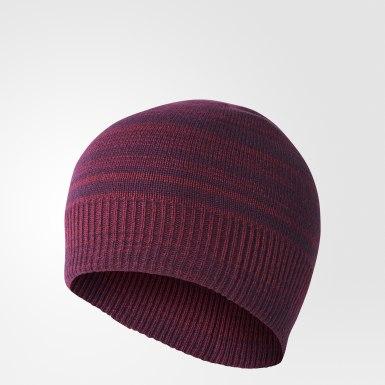 Бордовый Двухсторонняя шапка-бини Classic