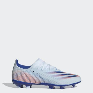 Heren Voetbal Blauw X Ghosted.3 Firm Ground Voetbalschoenen