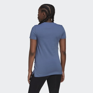 Frauen Athletics Essentials Cotton T-Shirt – Umstandsmode Blau