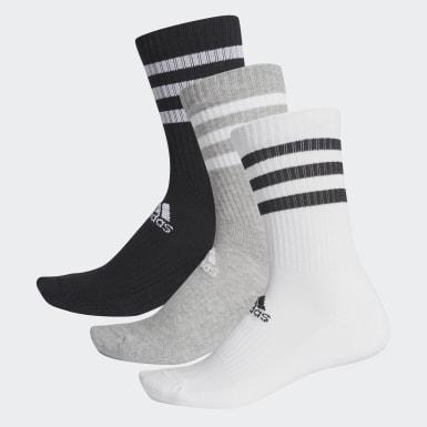 Training Gri 3 Bantlı Yastıklamalı Bilekli Çorap - 3 Çift