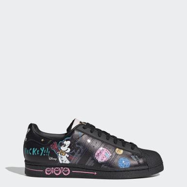 Men Originals Black Mickey Mouse Superstar Shoes