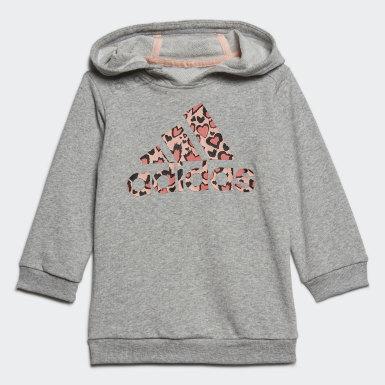 Mädchen Training Hoodie-Set Grau