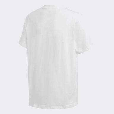 T-shirt Badge Branco Criança Originals