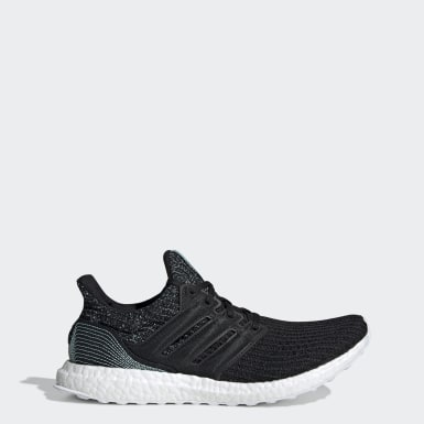 Men Running Black Ultraboost Parley Shoes