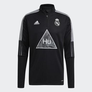 Heren Voetbal Zwart Real Madrid Human Race Sportshirt