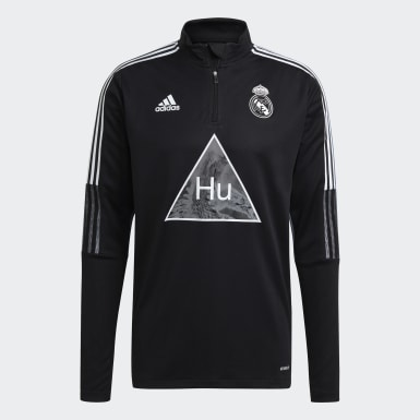 Men Football Black Real Madrid Human Race Training Top