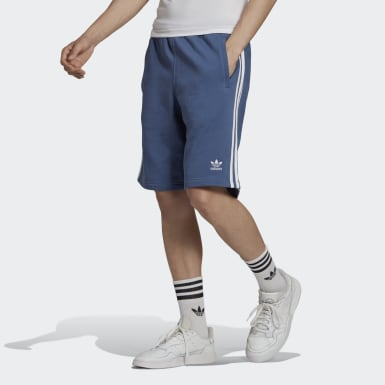 Men Originals Blue 3-Stripes Shorts