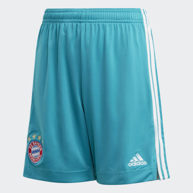 Youth 8-16 Years Football Green FC Bayern Goalkeeper Shorts