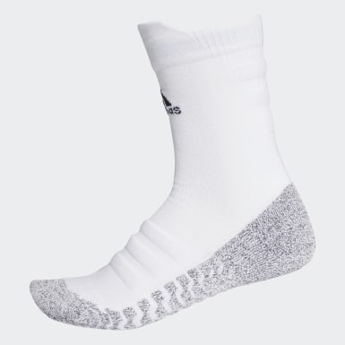 Trail Running White Alphaskin Traxion Lightweight Cushioning Crew Socks