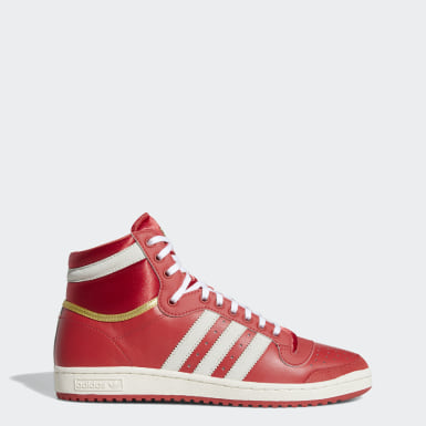 Originals Top Ten Hi Schuh Rot