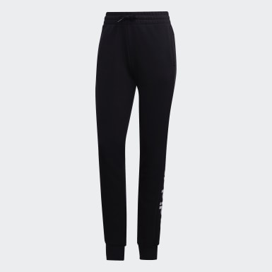 Women Athletics Black Essentials Linear Pants