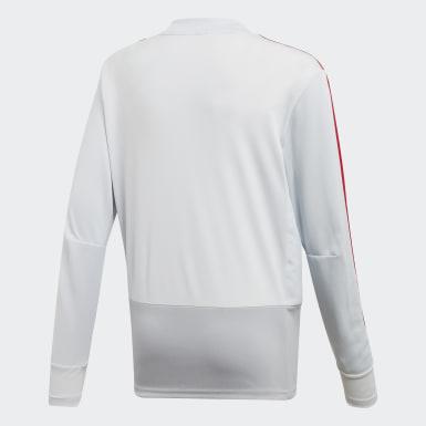 Kinderen Voetbal Grijs Manchester United Trainingsshirt