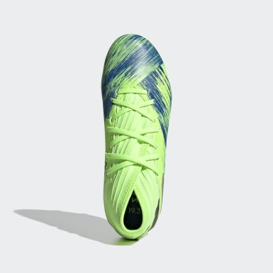 Kids Football Green Nemeziz 19.3 Firm Ground Boots