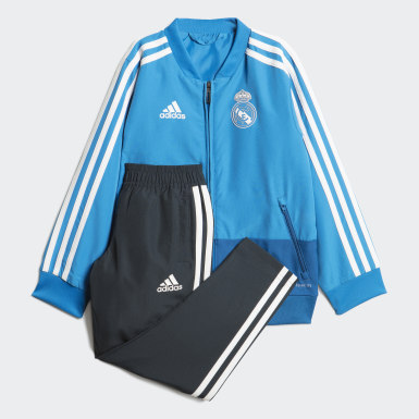 Kids Football Blue Real Madrid Presentation Tracksuit