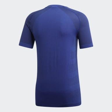 Erkek Koşu Mavi Ultra Primeknit Hafif Tişört