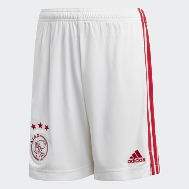 Pantalón corto primera equipación Ajax Blanco Niño Fútbol