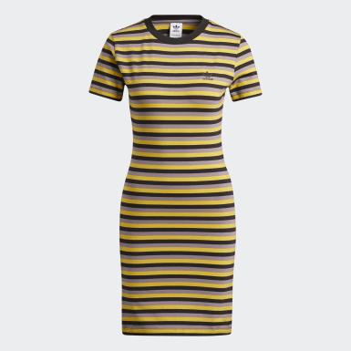Women Originals Black Striped Dress